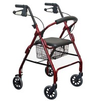 4 Wheel Walker with Curved Backrest. Click to View Product...